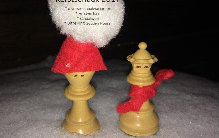 Kerstschaak 2017 is donderdag 21 december