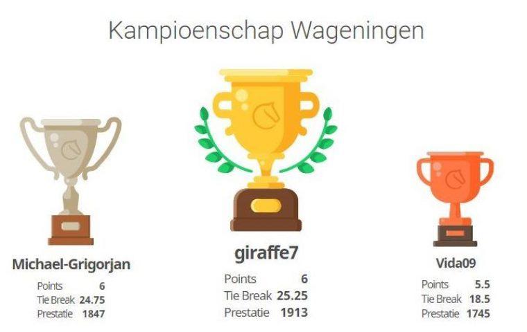 Hugo Gerritsen Wagenings schoolschaakkampioen